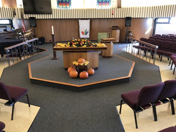 new carpet prince of peace church
